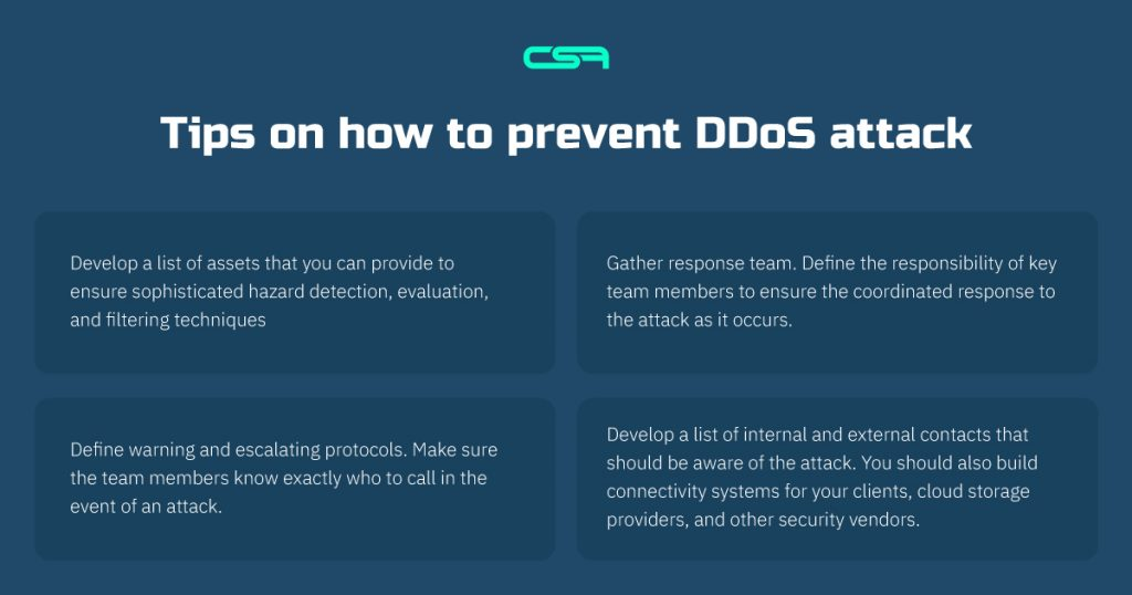 tips on how to prevent ddos attack